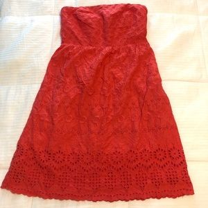 Coral Sleeveless Sundress Size 6